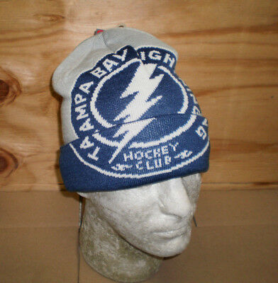 b375bee97ce Brand New Men s NHL Tampa Bay Lightning Embroidered Knit Cuffed Beanie Hat  OSFM