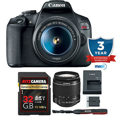 Canon EOS Rebel T6 Digital SLR Camera Kit with EF-S 18-55mm, 64GB Memory + More