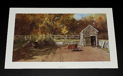 Peter Sculthorpe - Garden in Autumn - Collectible Pennsylvania Landscape Print