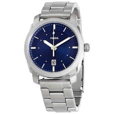 Fossil Machine Blue Dial Stainless Steel Men's Watch FS5340