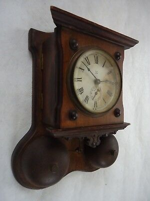 Antique Wurttemburg Wall Alarm Clock. Spares Or Repair