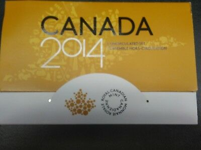 """2014 Canada """"Limited Edition of 75,000"""" Uncirculated Set Canad"""