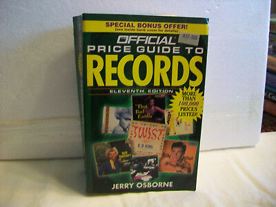Official Price Guide To Records by Jerry Osborne w/ More Than 100000 Prices