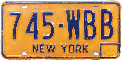 1973 series NEW YORK license plate (GIBBY GOOD)