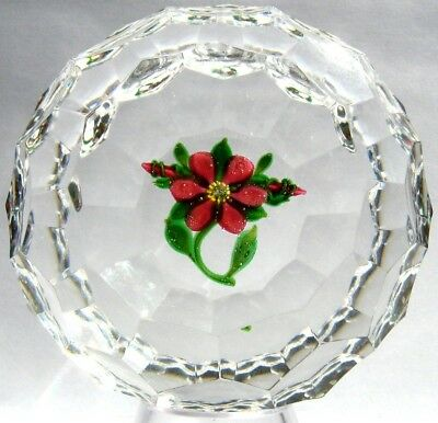 Briefbeschwerer / Paperweight DEBBIE TARSITANO Clematis, Mint Condition!