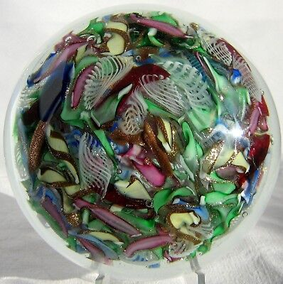 Briefbeschwerer / Paperweight MURANO Millefiori End of Day, Super Magnum Format!