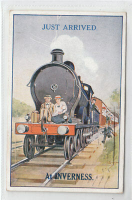 People On Steam Train Just Arrived At Inverness Jul 1925 12 View Pocket Novelty
