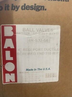 "*new In Box* Balon 4R-S32-Se  4"" Ball Valve 750-Wp  750-Mop"
