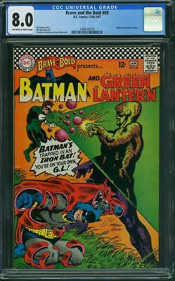 Brave and The Bold #69 CGC 8.0 OW/WH