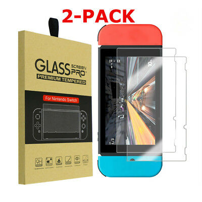 AM_ 2 Pcs 9H Tempered Glass Screen Protector Guard Cover for Nintendo Switch Rak