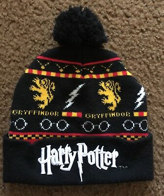 1589e43ec45 HARRY POTTER FAIRISLE Gryffindor Costume Cosplay Knit Jacquard Scarf ...
