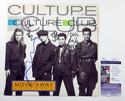 Culture Club Signed LP Record Album Move Away Extended w/ 4 JSA AUTOS DF014867