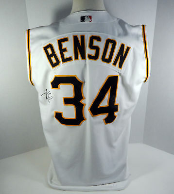 d03f61fa4c2 2001 Pittsburgh Pirates Kris Benson Signed  34 Game Used White Vest Jersey