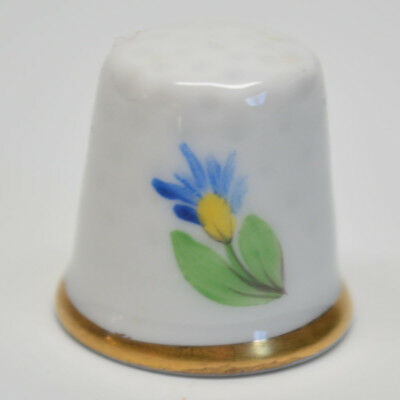 Herend Hand Painted Porcelain Thimble with Flowers