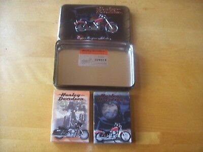 Harley-Davidson playing cards in case - NEW