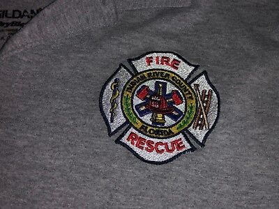 INDIAN RIVER County Florida FIRE Rescue Polo Shirt XLarge
