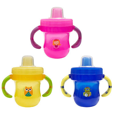 Baby Spout Sippy Cup With Handle Transition Trainer Cup For Infant Toddlers E4S0