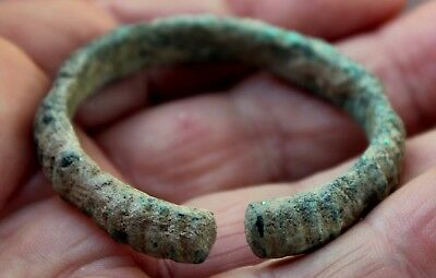Beautiful Ancient Roman Bronze Child's Bracelet Artifact From Latvia Dig #2