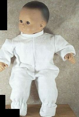 """Doll Clothes Baby Made 2 Fit American Girl 15"""" inch Bitty Pajamas White Sleeper"""