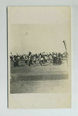 Early RPPC Native American Indians Pow Wow Event Real Photo Postcard wz1148
