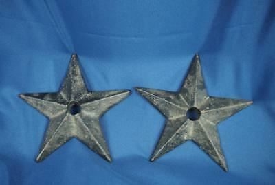 2 Antique Architectural Cast Iron Star Anchor Plate for Brick House