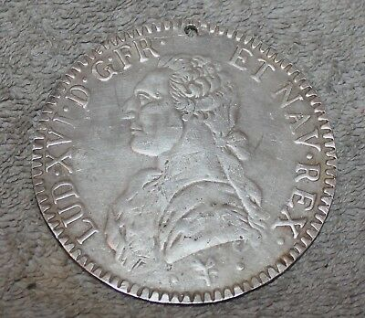 Antique/Vintage French Peace Medal Merite 1774 Ha Ko Say Ee Louis Xvi Silver?