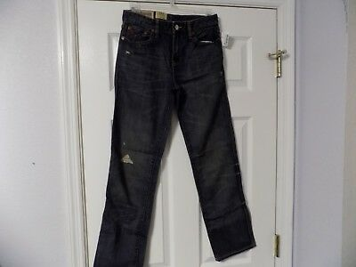 Ralph Lauren Men's Youth Boys Jeans Slim 381 Skinny distressed Size 14 NWT