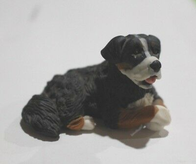 "Vintage STONE CRITTER ""LITTLES"" Bernese Mountain Dog Keychain - NEW!"