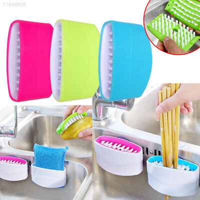 B37E Home Sink Spoon Cutlery Cleaners Washing Cleansing Sponge Brush Convenient