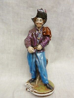 rare russian porcelain figurine pirate mark reads as  Alexander II. 1855-1871