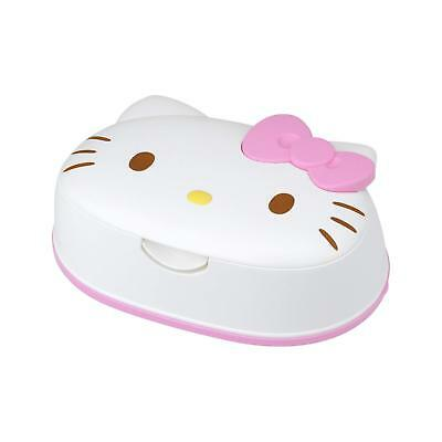 HELLO KITTY Wet Tissue Case Container SANRIO JAPAN with 80 Sheets Hand Wipes