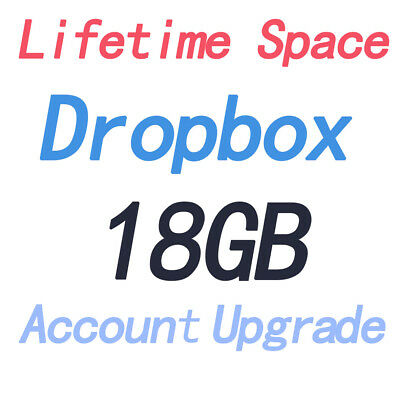 Dropbox Permanent 18 GB Lifetime Space By Referral Upgrade Account Pre Upgraded