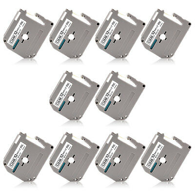 10PK MK MK231 12MM Compatible/Brother P-Touch M Label Tape 1/2'' PT-90 85 PT55S