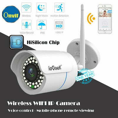 ieGeeK Wireless1080P HD WIFI IP Network Camera CCTV Outdoor Security IR Night UK