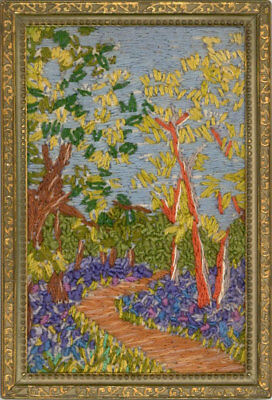 A Pair of Early 20th Century Embroideries - Summer Landscapes