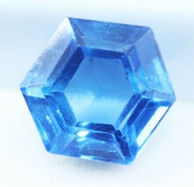 8.80 Ct Natural Hexagon Cut Transparent Ocean Blue Aquamarine Gem GGL certified