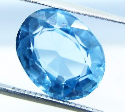 6.10 Ct Natural Oval Cut Transparent Ocean Blue Aquamarine Gem GGL certified