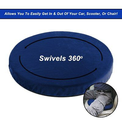 New 360 Rotating Swivel Seat Cushion for HOME OFFICE CAR CARAVAN Mobility aid
