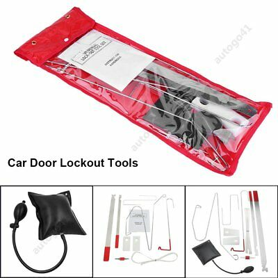 Car Door Lock Out Emergency Open Unlock Key Lost Tool Kit + Inflatable Air Pump