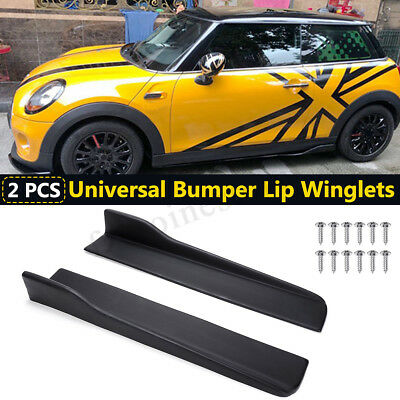 2X 58Cm Universale Auto Minigonne Laterali Side Skirts Abs Winglet Wings Canard