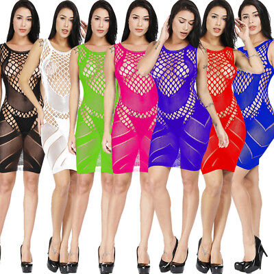 Sexy Body Lingerie Fishnet Stocking Bodysuit Nightwear Women Dress Bodystocking