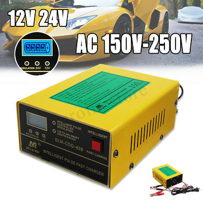 Car Auto 12V/24V Charger Type For Lead Acid & Lithium Battery Pulse Repair