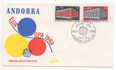1969 ANDORRA First Day Cover EUROPA CEPT ISSUES La Vieille