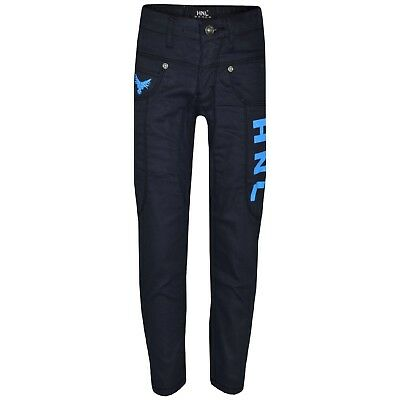 Kids Boys HNL Denim Stretchy Jeans Designer Pants Skinny Jean Trousers 5-13 Year