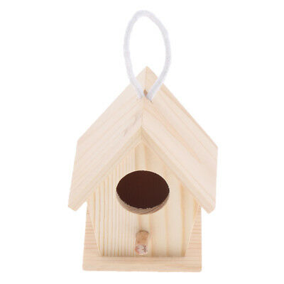 Natural Wooden Bird Parakeet Budgie Cockatiel Nesting Box Parrot