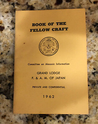 Vintage 1962 Grand Lodge F. & A.M. of Japan Book of the Fellow Craft Booklet