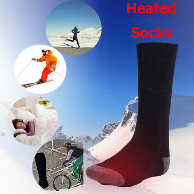 US Hot Chargable Battery Electric Heated Socks Boot Feet Warmer Winter Outdoor