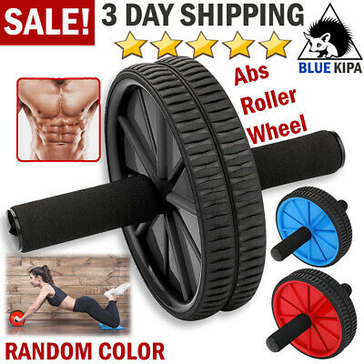 Ab Roller Wheel Abs Crunch Machine Abdominal Stomach Slide Exercise Roll Out
