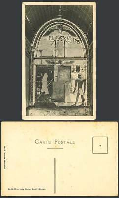 Egypt Old Photo Postcard Thebes Holy Shrine, Deir el-Bahari Der-el-Bahari Temple