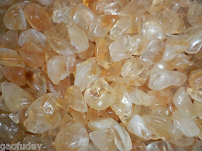 Tumbled Citrine Crystal Stone 0.6 to 9.3 g small size pieces 120 gram Lot
